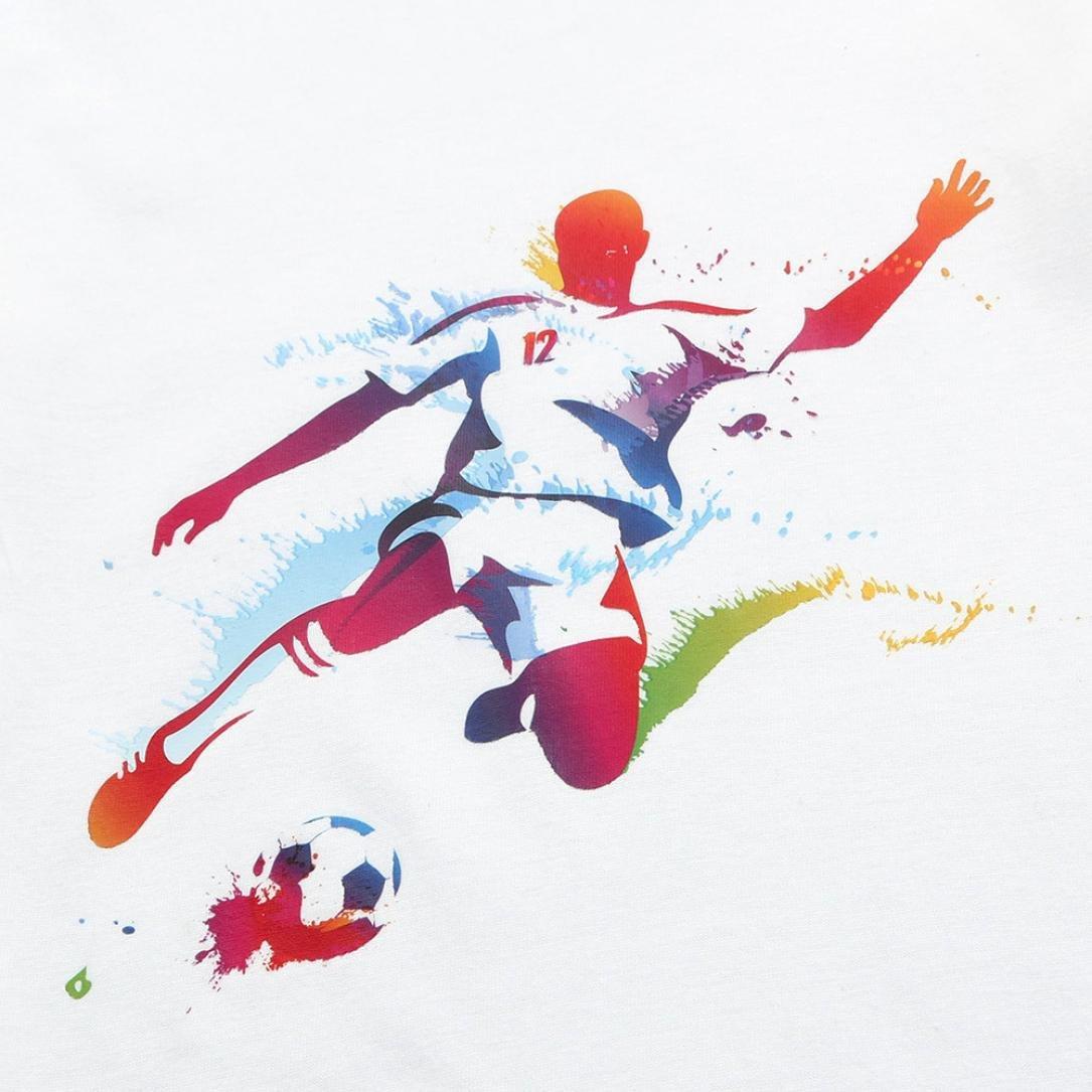 QinMM Camiseta Estampada de Fútbol Para Niños Bebé, Tops Camisa de Verano de Manga Corta: Amazon.es: Ropa y accesorios