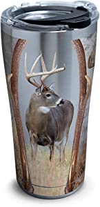 Tervis 1261369 Deer Trio Stainless Steel Tumbler with Clear and Black Hammer Lid 20oz, Silver
