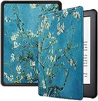 Capa Kindle Paperwhite 10ª geração à prova d'água - Função Liga/Desliga - Fechamento magnético - Apricot Flower