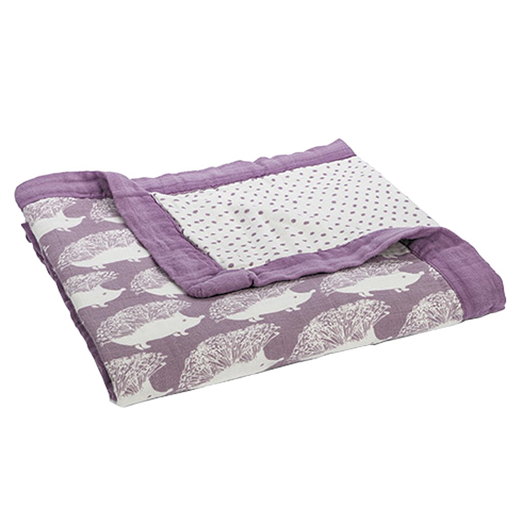 Milkbarn Big Lovey Blanket, Lavender Hedgehog by MilkBarn