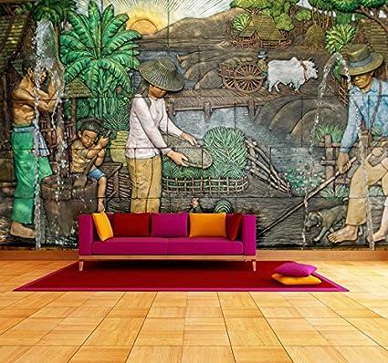 999store Indian Wallpaper Sculpture From Park Garden In