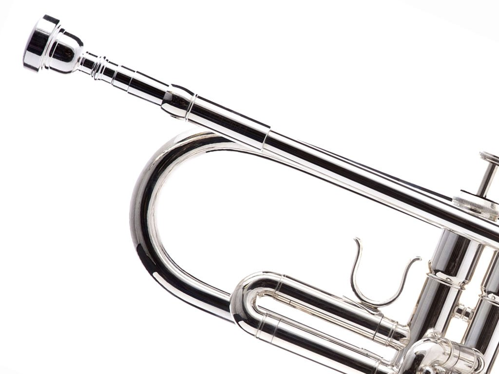 Hawk WD-T313 Bb Trumpet with Case and Mouthpiece, Silver Plated by Hawk (Image #4)