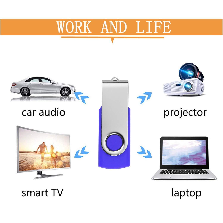 32GB Memorias USB 5 Piezas Metal PenDrives Pen Drive 32 GB Port/átil Unidad Flash USB 2.0 Plata