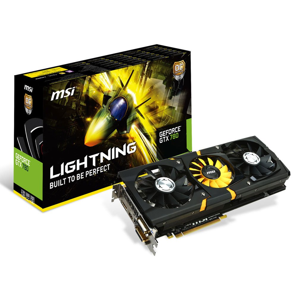 MSI社製 NVIDIA GeForce GTX780搭載ビデオカード(オーバークロックモデル) N780GTX Lightning   B00ESZEGXU