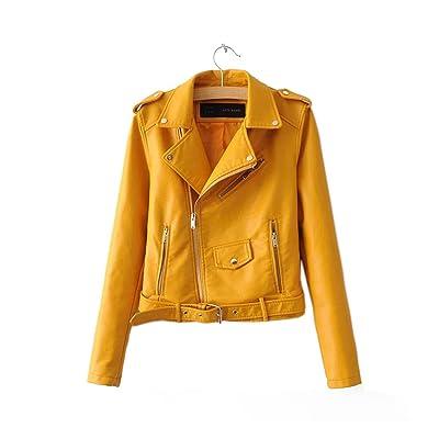 SITENG Women Autumn Fashion Street Short PU Leather Jacket Zipper Basic Jackets Bomber Motorcycle Cool Outerwear Coat