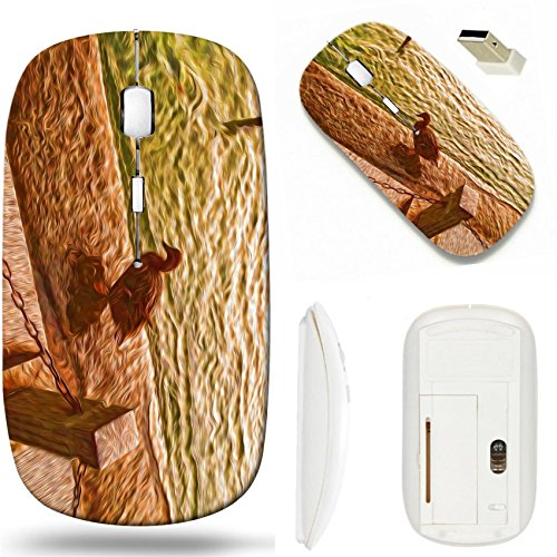 MSD Wireless Mouse White Base Travel 2.4G Wireless Mice with USB Receiver, Noiseless and Silent Click with 1000 DPI for notebook, pc, laptop, computer, mac book design 24643472 Oil painting ducks back