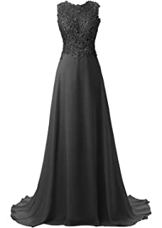 Callmelady Lace Appliqued Prom Dresses 2018 Long Evening Gowns for Women Formal