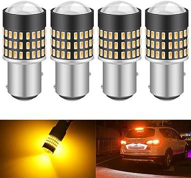 KaTur 2pcs 900 Lumens 3047 3057 3057A 3155 3157 Base Super Bright 3014 78SMD Lens LED Bulbs Brake Turn Signal Tail Backup Reverse Brake Light Lamp White 12V 4W