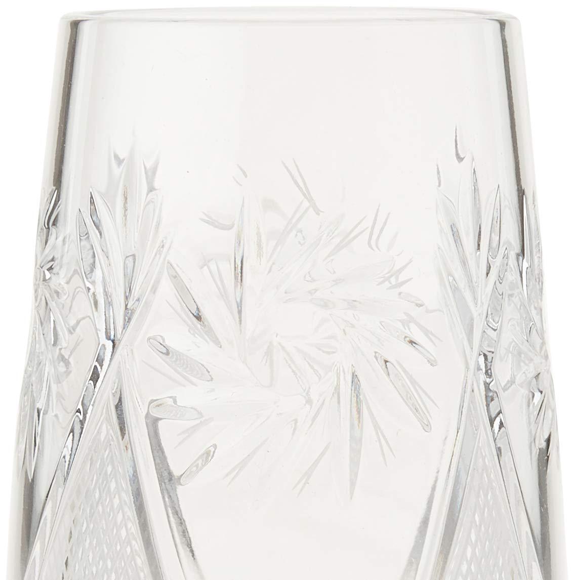Clear 10 oz Hand Made Vintage Russian Crystal Glass Neman Glassworks GL5108-300 Set of 6