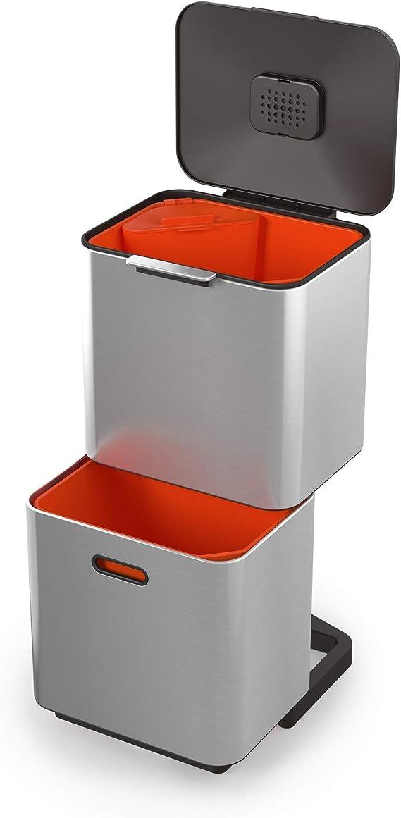 Joseph Joseph Unidad de separación de residuos y reciclaje con una capacidad de 60 litros tótem max acero inoxidable, 60L: Amazon.es: Hogar