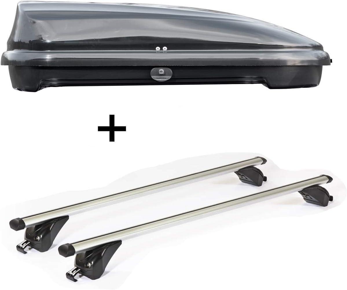 ab 15 F48 5 T/ürer VDP Dachbox VDPFL320 320Ltr schwarz gl/änzend Dachtr/äger//Relingtr/äger KING1 kompatibel mit BMW X1