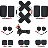 Belifu Electrode Pads 16 PCS with 2.35mm Safety Plug 4 Lead Electrodes Wires with Pin Tips Connectors for Tens.Self…