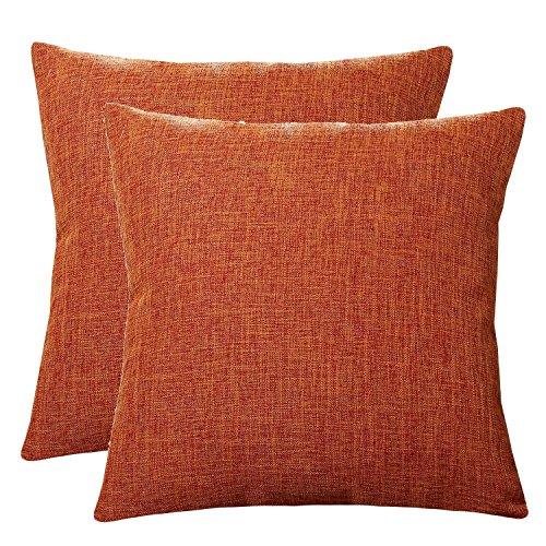 U'Artlines Pillowcase Covers, Slubbed Linen Pillow Case Decorative Cushion Cover Pillowcase for Sofa Pillow Cover (22