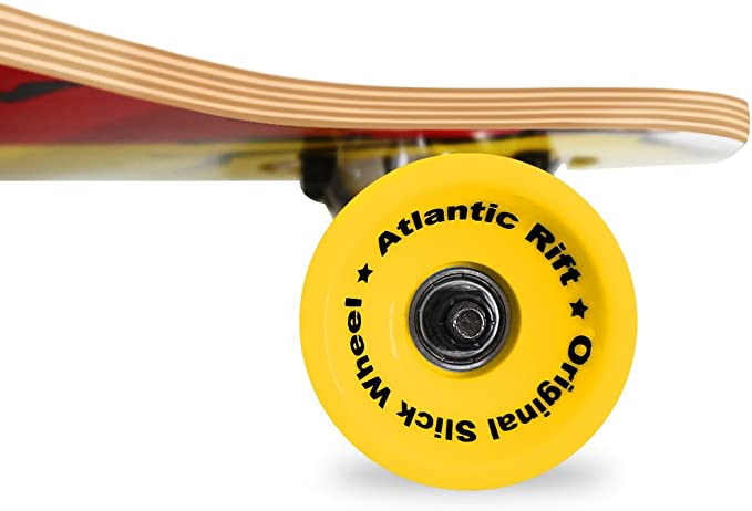 "SKATEBOARD LONGBOARD Roues ABEC 7 ORIGINAL /""Atlantic Rift/"" 107 x 24cm"