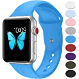 Sport Band for Apple Watch 42mm 38mm,Misker Soft Silicone Strap Replacement Wristbands for Apple Watch Sport Series 3 Series 2 Series 1 Nike+ Sports and Edition