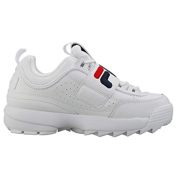 Fila Strap Disruptor 2 Mujeres Zapatillas White Navy Red - 8 UK - 42 EU: Amazon.es: Zapatos y complementos