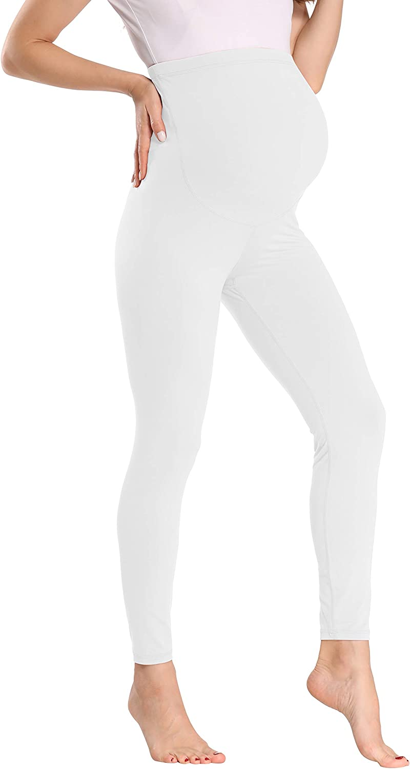 Kegiani Maternity Leggings Over The Belly Maternity Clothes for Women Soft Stretch Printed Pregnancy Yoga Pants 16 Colors