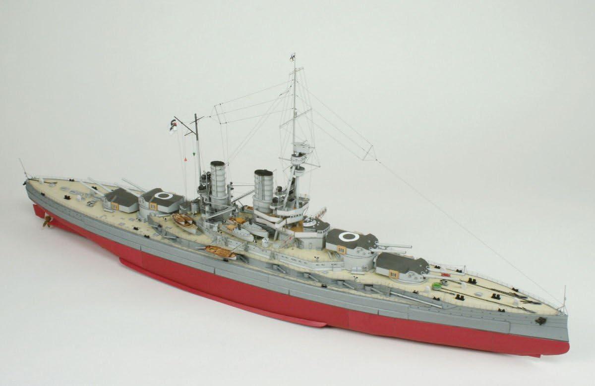 Kartonmodell Linienschiff SMS Baden 1:250 HMV Hamburger Modellbaubogen Verlag