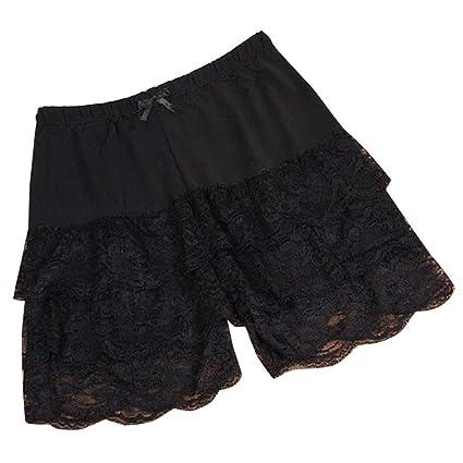 c5b42624b6be Amazon.com  Short Leggings For Women,Lace Frilly Ruffle Underwear Hot Pants  Safety Shorts (Black)  Arts