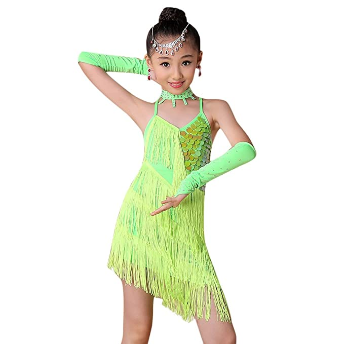 2f1371680f9c Amazon.com  OTINICE Girls Cute Tutu Dress Leotard for Latin Ballet ...