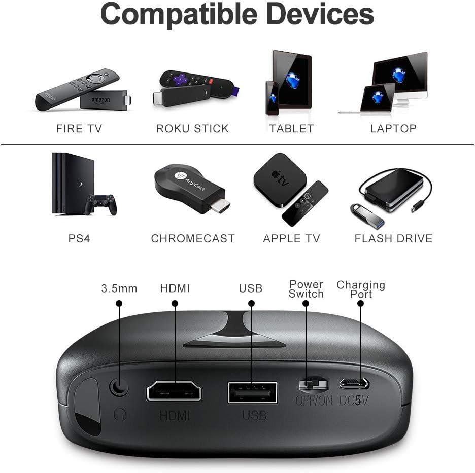 Computers & Accessories ELEPHAS 2600 Lumen Wi-Fi Portable Home ...