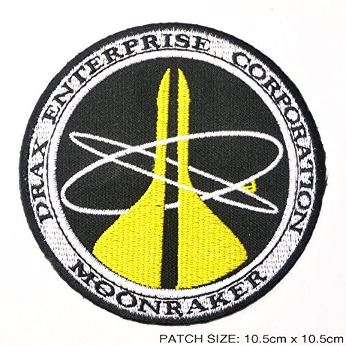 James Bond 007 MOONRAKER Drax Enterprise Corporation Sew Ironed Patch Badge Embroidery JA-01 -