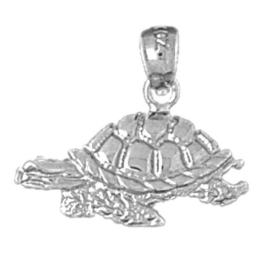 Jewels Obsession Turtles Pendant Sterling Silver 925 Turtles Pendant 19 mm