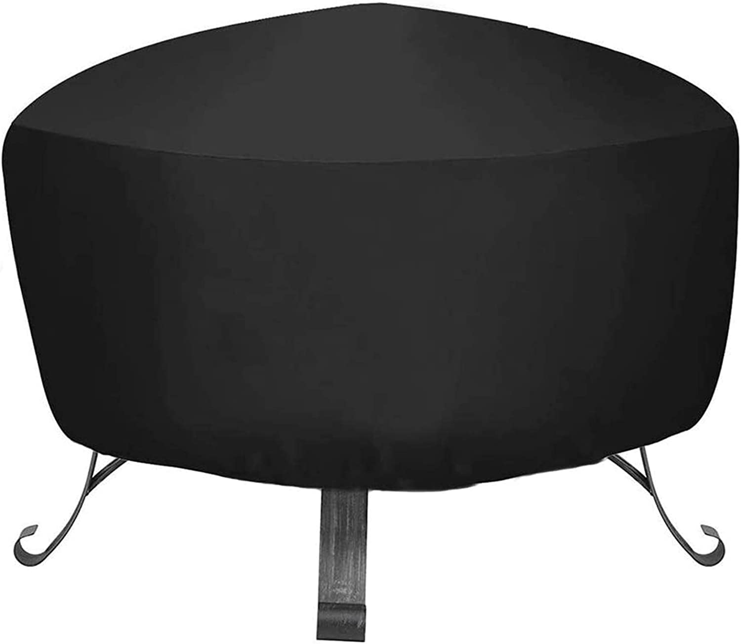 Fire Pit Cover Outdoor Round Heavy Duty Weather Resistant Fire Bowl Cover Waterproof Dustproof Firepit Furniture Table Covers with Thick PVC Coating 36x18 inch
