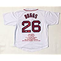 $285 » Authentic Autographed Wade Boggs Pro Style Stat Jersey JSA COA