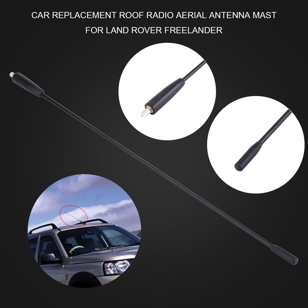 Antenne de Voiture Keenso Antenne De AM//FM Remplacement de Voiture dAntenne de Radio de Fouet de M/ât de Toit de 16