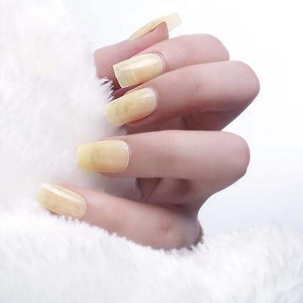 24pcs 12 diferentes tamaño invierno Candy transparente medio de color amarillo sólido longitud cuadrado completo para