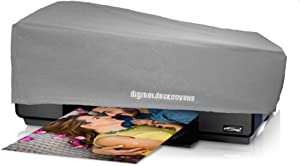 DigitalDeckCovers Printer Dust Cover for Epson SureColor P600 & Stylus Photo R3000 Printers [Antistatic, Water-Resistant, Dust-Proof Protector, Heavy Duty Fabric, Silver]