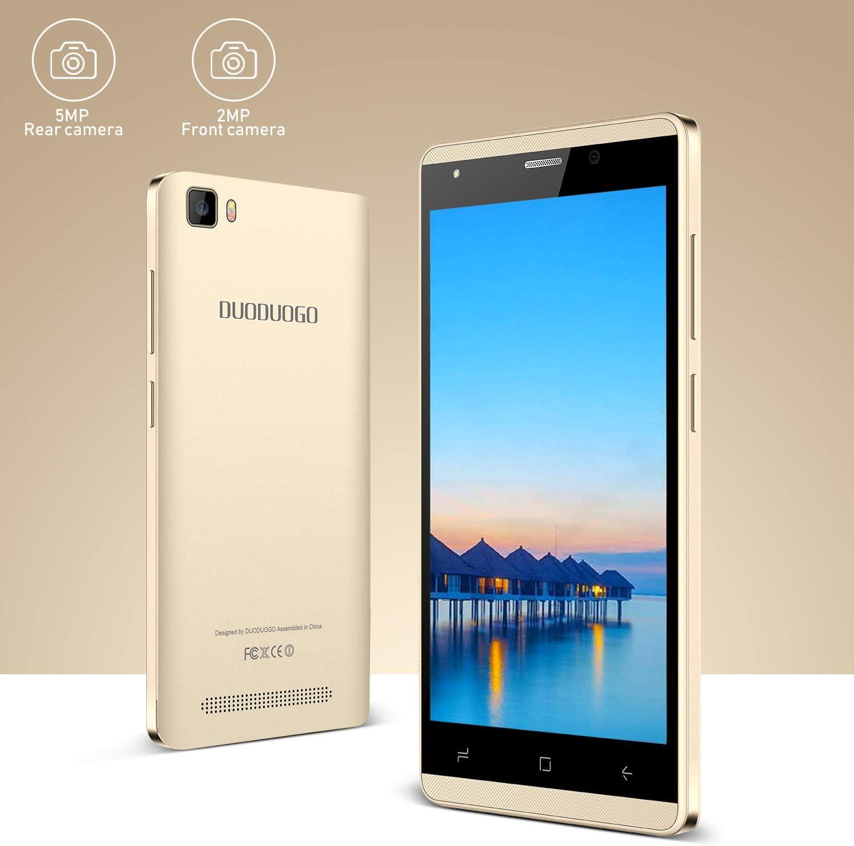 Moviles Libres 4G,5.1 Pulgadas 16GB ROM,2800mAh Batería,Dual Camara,Dual Sim,Android 9.0 Smartphone Libres Duoduogo J3 (Oro): Amazon.es: Electrónica