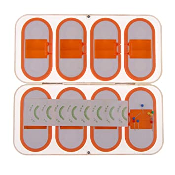 B Baosity 8pcs Durable Plastic Fishing Round Reels Bobbins Spools Hook Line Rig Trace Storage