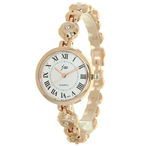 802923acb1 Fashion Women Bracelet Watches Gold Stainless Steel Band Quartz Watch Casual  Dress Ladies Wristwatch Round Clock