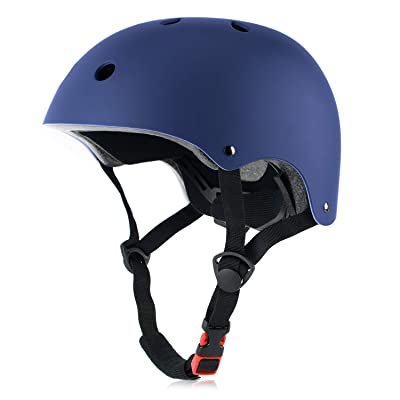 OUWOR Skateboard Helmet CPSC Certified Lightweight Adjustable, Multi-Sport for Cycling Skating Scooter, 3 Sizes : Sports & Outdoors