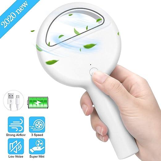 Portable Mini Handheld Fan Cute USB Rechargeable Electric Personal Fan for Kids Adults