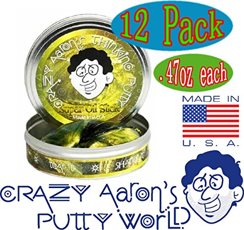 Crazy Aaron's Thinking Putty Mini Tin Complete Gift Set with Lizard Lips Hypercolor, 12-Pack by Crazy Aaron's (Image #7)