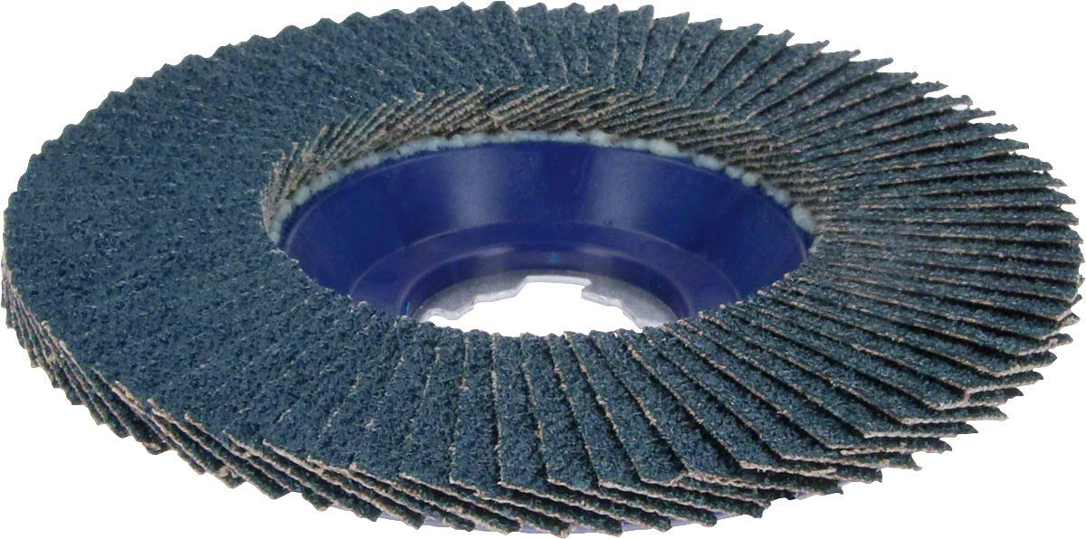 Bosch Professional 2608619209 Straight Fan Grinding Disc Best for Metal, X-Lock, X571, Diameter 125 mm, Grit K40, Bore Diameter 22.23 mm