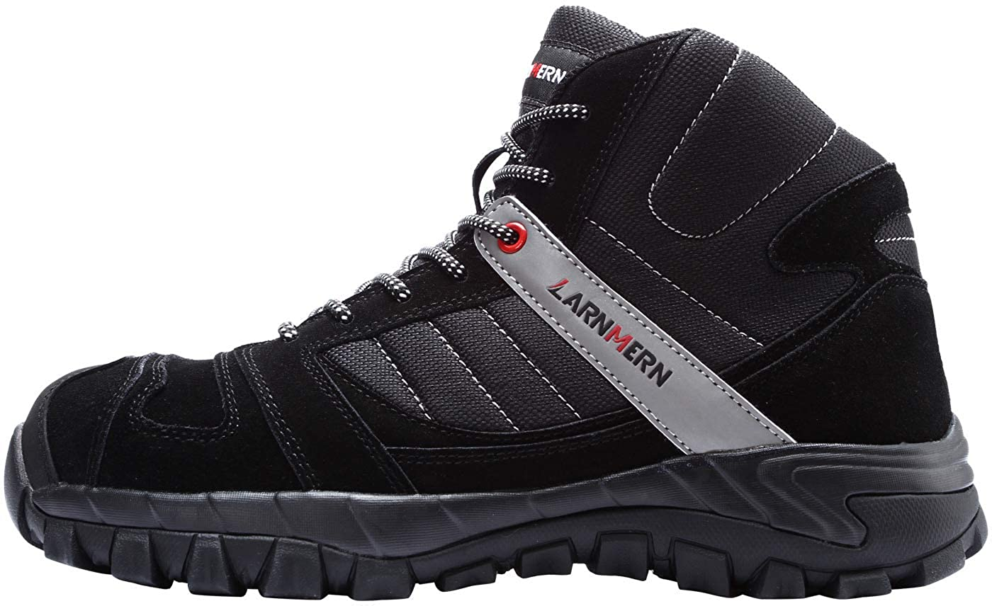 LARNMERN Steel Toe Boots,Mens Work Safety Outdoor Protection Footwear Industrial and Construction Boots