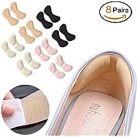Manba Pegatinas de Talón Almohadilla de Talón Plantilla de Talón de Zapatos para Mejorar Ajuste y Comodidad de Zapatos (8 Pairs)