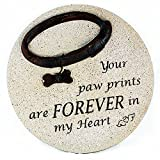 Your Paw Prints are Forever in My Heart Dog Memorial Stone For Sale