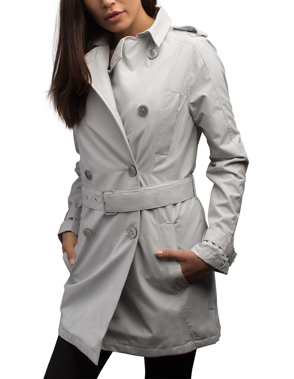 SCOTTeVEST Women's Trench Coat - 18 Pockets - Travel Clothing MST XL