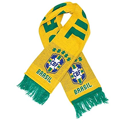 3ad799879e6 Amazon.com   Official Team Brazil 2014 Soccer Scarf   Sports   Outdoors