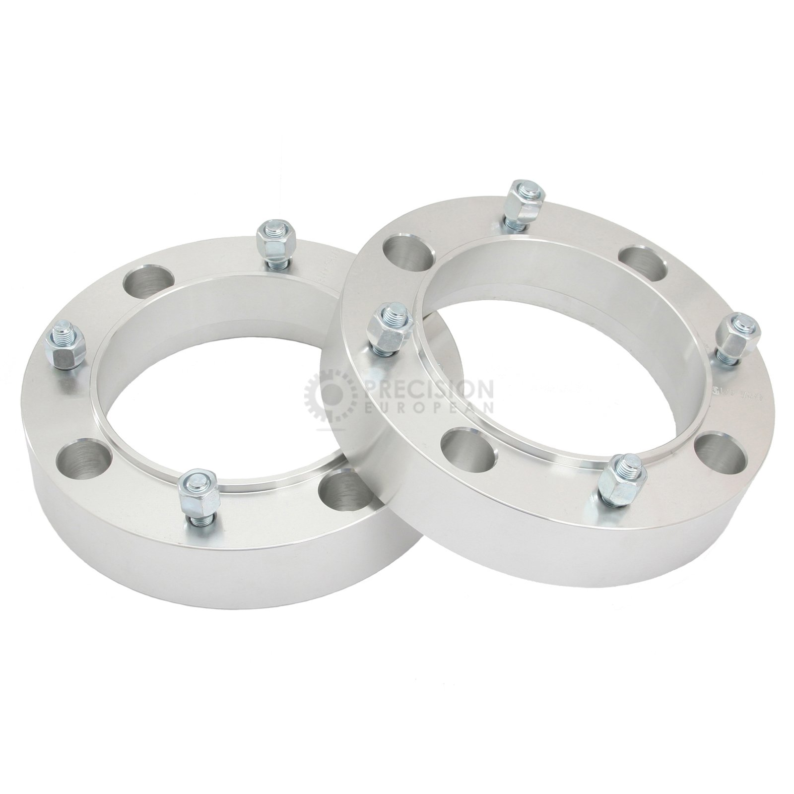 2pc 1'' Thick - 4x156 ATV Wheel Spacers with 3/8'' Studs (Cone Seat Nuts) for many Polaris & Kawasaki: Outlaw (Front Only) Predator Ranger RZR Sportsman XP Lakota Mojave Tecate (4/156) Silver V3