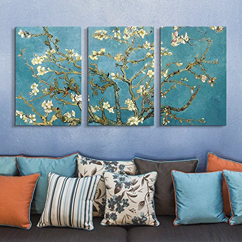 3 Panel Almond Blossom by Vincent Van Gogh x 3 Panels