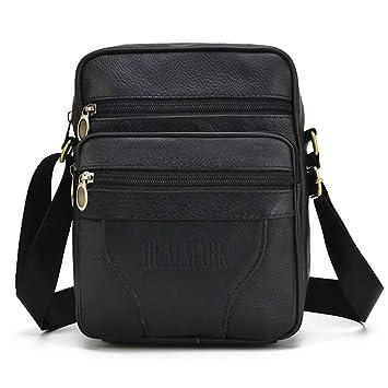 Realmark Cuero bandolera Messenger hombro negocios monedero bolso maletín de los hombres