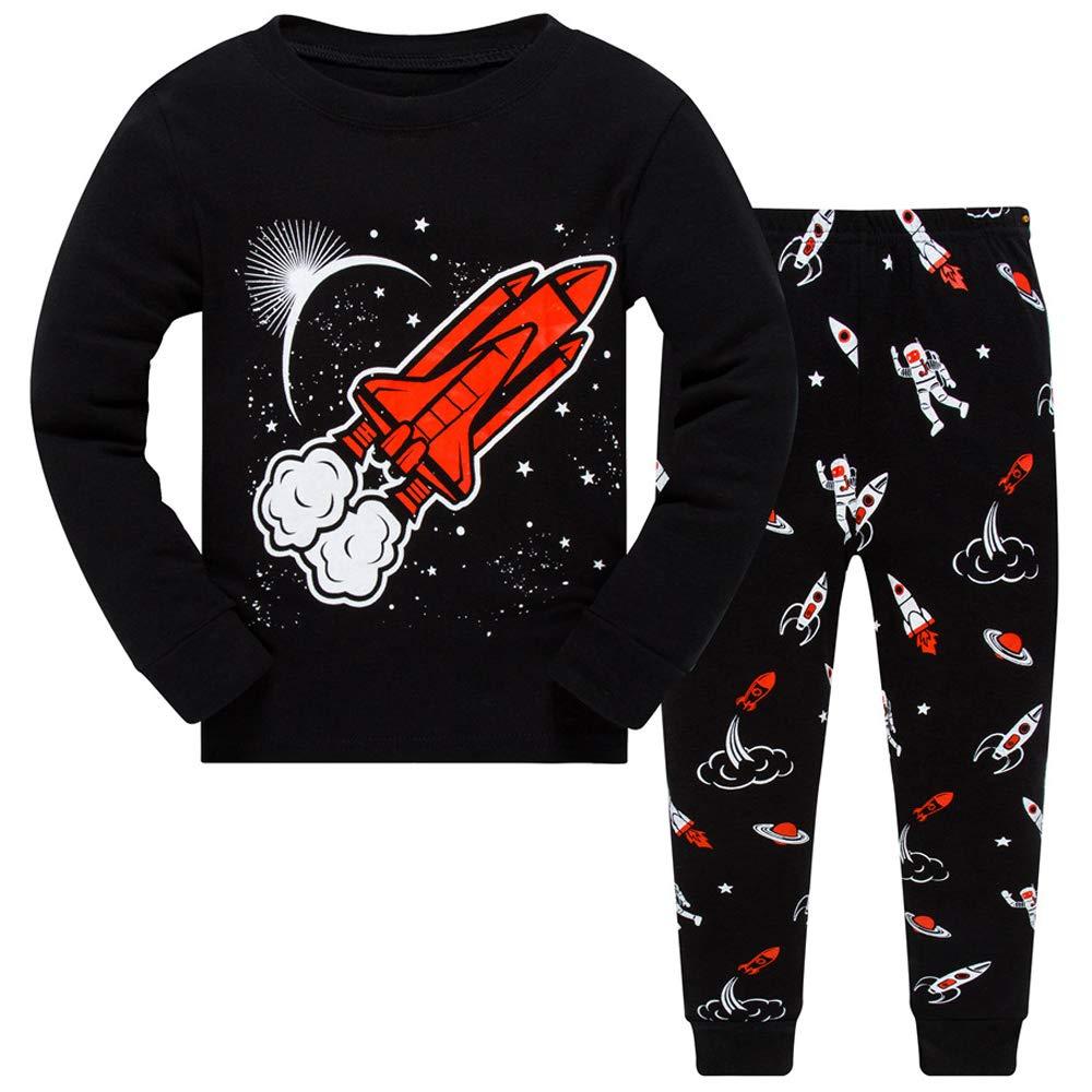 Little Boys Pajamas Kids Pjs Sleepwear Toddlers 100/% Cotton 2-Piece Clothes Set 2T-7T