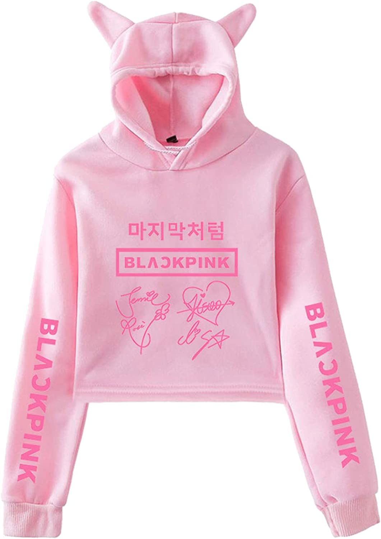 Xllife Kpop Blackpink Hoodie Crop Tops Lisa Rose Jisoo Jennie Sweater Jacket