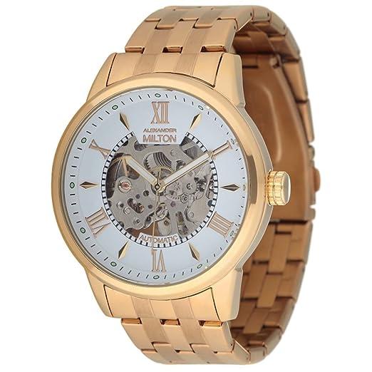 Alexander Milton reloj automático, acero inoxidable - MODELE Kronos - Dore: Amazon.es: Relojes